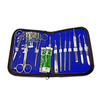 DISSECTION KIT,15 ITEMS,W/CASE,EACH
