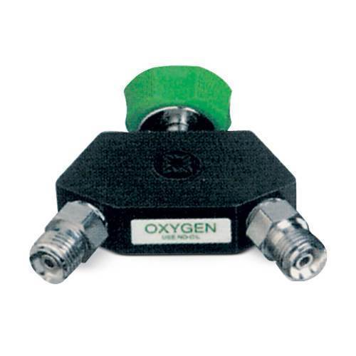 Oxygen Connector,Ohio male & dual DISS female