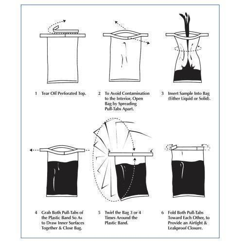 """Container, sterile, twirl'em, 3"""" x 7"""", 100-pack"""
