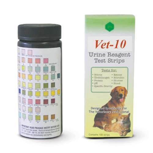 STRIPS, URINE REAGENT vet-10  reagent, 100pk