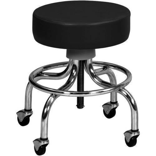 Stool,Black chrome base stool