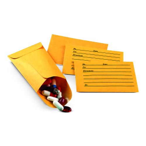 Carton, pill envelopes