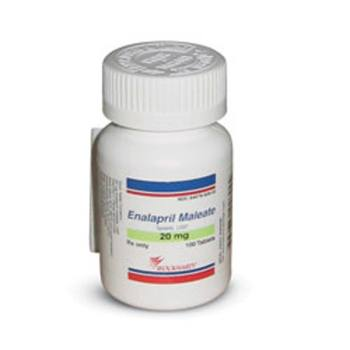 RX ENALAPRIL MALEATE 20MG, 100 TABS