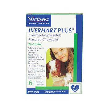 RXV IVERHART PLUS,VIRBAC MEDIUM,26-50LB,6PK