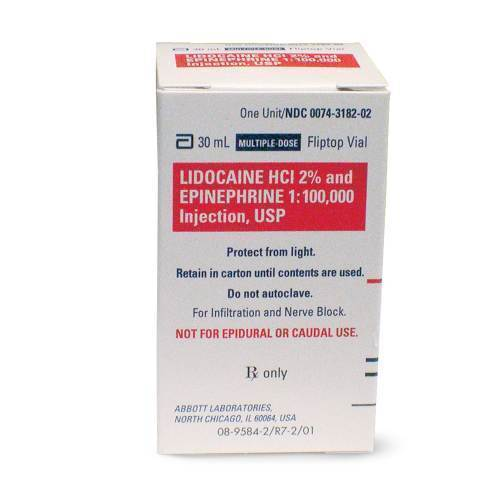 RX LIDOCAINE 2% WITH EPI, 30 ML