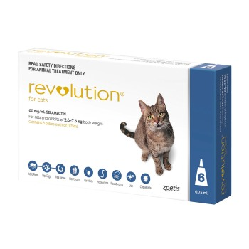 RXV, ZOETIS, REVOLUTION BLUE,CATS,6PK,5-15LB