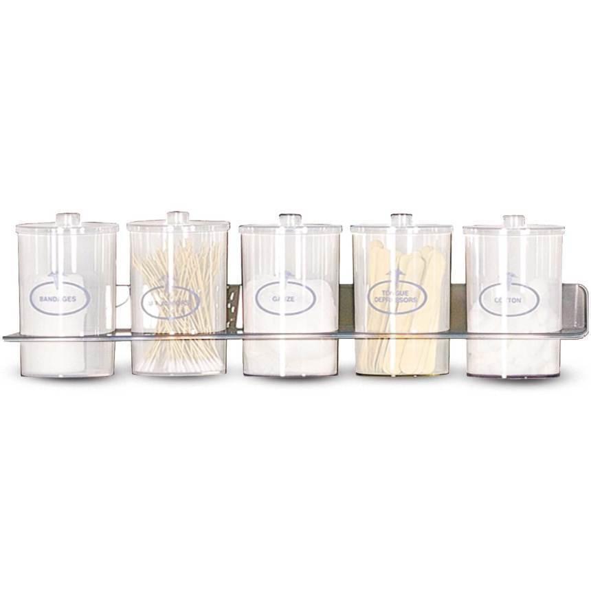 Jar, glass wall rack
