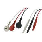 ECG SNAP ON 3-LEAD WIRE SET, 24IN