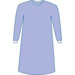 GOWN,STRAIGHT BACK,SONTARA,L,NON-STERILE,60 EA/CS