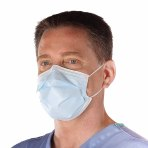 MASK,SURGICAL,TIE-ON,3PLY,BLUE, 50/BOX, 2 BOXES