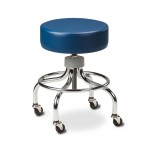 "STOOL,EXAM,ROUND FOOT RING,2"" WHEELS"