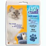 KIT,SOFT CLAWS,TAKE HOME,FELINE,MED,BLUE,40 NAIL CAPS