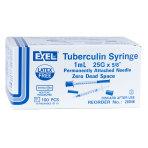 SYRINGE, TB, 1CC 25GX5/8, w/ P.A Needle, 100/BX, EXEL