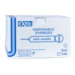 SYRINGE,3CC 21 X 1.5,EXEL,100/BX
