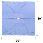 Fenestrated  Drape, 30-in x 30-in, 2-in x 1-in Rectangle Opening, each