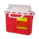 CONTAINER,SHARPS,CLEAR,5.4QT,12/CASE