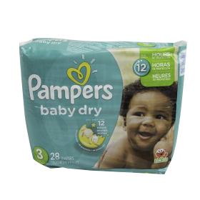 DIAPER,PAMPERS,BABY-DRY,SIZE 3,16-28 LB, 112/CASE