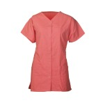 TUNIC, CARRIBEAN CORAL, SNAP V, WOMEN'S, SMALL