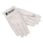 GLOVES,WELDING,RED RAM,WHITE,12/BAG