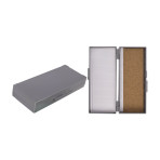 BOX,MICROSLIDE,50-PLACE,CORK LINED,GRAY,EACH