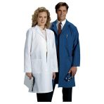 LAB COAT,4BUTTON,WHITE,LARGE,EACH