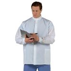 COAT,LAB,SHORT,UNISEX,WHITE,BARRIER,LG,EA