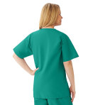 AngelStat Womens V-Neck Scrub Top with 2 Pockets Emerald back