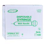SYRINGE,3CC 20 X 1,L/L,100/BX