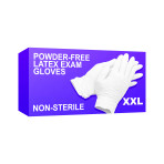 GLOVE,LATEX EXAM,P/F, XXL,90/BX