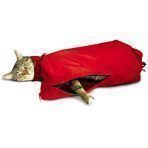 SACK,CAT,MEDIUM CAT SACK WITH FULL UNDERSIDE ZIPPER - RED
