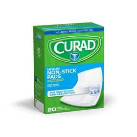 PAD,NON-STICK,CURAD,3 X 4,20/BOX,12BOX/CS