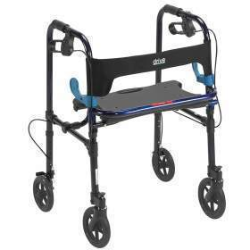 ROLLATOR,CLEVER LITE,FLAME BLUE,8IN CASTERS,ADULT