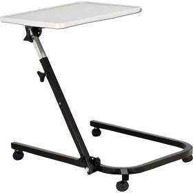 TABLE,OVERBED,PIVOT AND TILT,ADJ,GRAY BLACK
