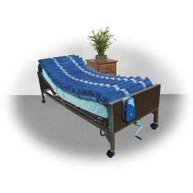 """Med Aire Low Air Loss Mattress Replacement System with Alternating Pressure, Dark Purple , 8""""  Size"""