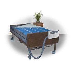 Med Aire Bariatric Heavy Duty Low Air Loss Mattress Replacement System, Blue,  Size
