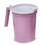 Carafe, 1000cc with handle and lid, mauve, 100/case