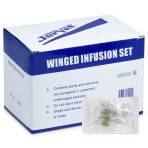 "IV set, winged infusion, 19G, 12"" tubing, sterile, 100/bx"