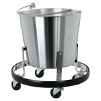 Stainless Steel Kick Bucket Bucket and frame Kit, each