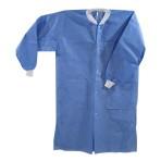 Disposable Lab Jacket. Hip length. Ciel Blue. Medium.