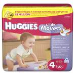 DIAPER,HUGGIES SUPREME,JUMBO STEP 4,27 EA/PK