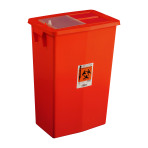 CONTAINER,SHARPS,12 GAL,RED,SLIDING,EA
