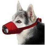 MUZZLES,XXXLARGE QUICK MUZZLE FOR DOGS RED