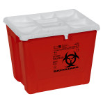 CONTAINER, SHARPS, 8 GAL, FLAT, RED, PGII, 9/CS