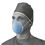Surgical Cone-Style Masks w/Headband, 50/bx