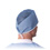 Medline Surgeon Cap, Tieback, Scrim, Blue, OSFM, 500/cs