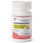 ACETAMINOPHEN,TABS,500MG,100/BT(TYLENOL,EA