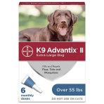 PHV ADVANTIX II BLUE, DOG, OVER 55LB, 6 CARD