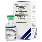 RX BETAMETHASONE SODIUM PHOSPHATE AND BETA ACETATE (CELESTONE) INJ SUSP, 6MG/ML 5ML