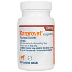 RXV CARPROVET 100MG, 60 FLAVORED TABS