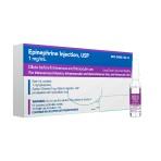 RX EPINEPHRINE INJ 1MG/ML, 10X1ML AMPULES